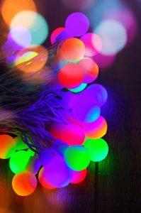 multicolored led string lights
